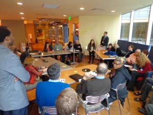 Grupo de trabalho reunido na primeira reunião do Placemaking Leadership Council
